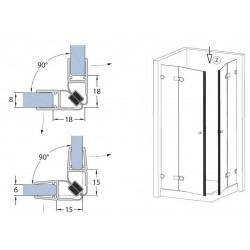 Corner magnetic shower bars Ideal Standard T182867