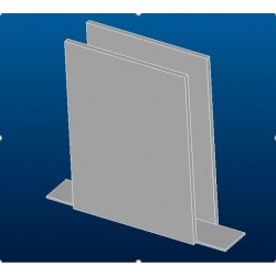 Plastic insert under the wall spacer holder shower TONIC Ideal Standard LV18367